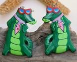 Vintage alligator florida gator fan wood earrings handmade thumb155 crop