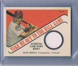 2004 Topps Cracker Jack Take Me Out to the Ballgame Relics #BA Bob Abreu... - $11.53
