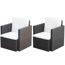 vidaXL Patio Rattan Wicker Garden Single Sofa Armchair Outdoor Chair Bla... - $79.99+