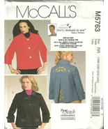McCALL'S MISSES & WOMENS JACKETS #M5763 RR 18W-24W - $8.50