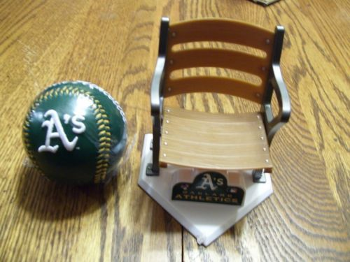 Oakland As Colectable baseball and stadium seat