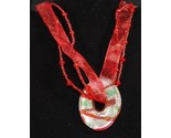 Redgreen glass donut ribbonbead choker close thumb155 crop