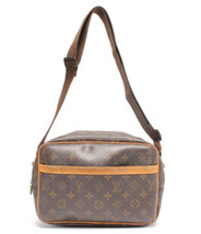 Auth Louis Vuitton Monogram Shoulder Bag Brown Leather PVC Logo LVB0540 - $424.71