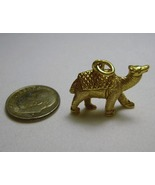 18k Camel Charm Pendant Solid Gold 10.7g Vintag... - $595.00