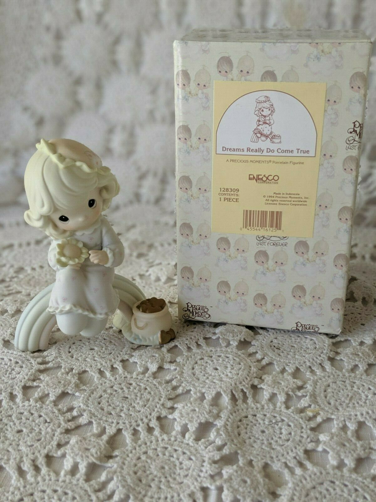 Primary image for Enesco Precious Moments Porcelain Dreams Really Do Come True Figure 1994