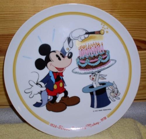 Disney Happy Birthday Mickey Mouse PLATE