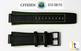 Citizen Eco-Drive AW1385-11H Genuine Black Leather Watch Band 16mm 4-S09... - $99.95