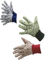 Floral Gardening Work Gloves with Colored PVC Dots - $5.92+