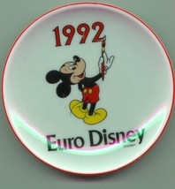 Euro Disney with Mickey Mouse dated 1992 Plate - $19.98
