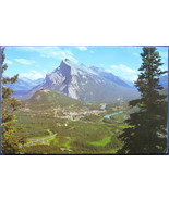 Double L, Full Bleed Postcard, Mt Rundle and Banff, AB, Cana - $6.00