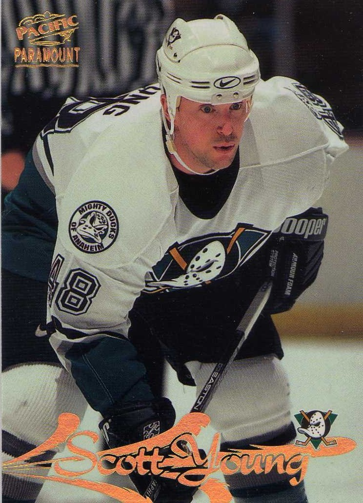 1997-98 Pacific Paramount Scott Young Anaheim Ducks