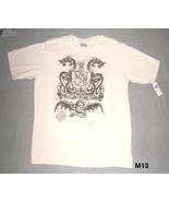 IRON RULE Adult sz L Creme Dragons Tee shirt  NWT - $10.99