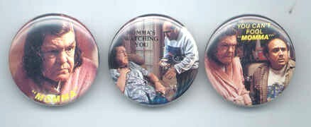 THROW MOMMA FROM THE TRAIN 3 Different Pinback Buttons