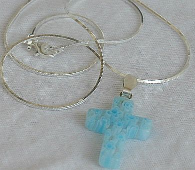 Turquoise flowers morano Cross
