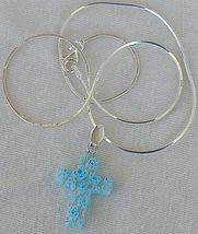 Turquoise flowers morano cross 5 thumb200