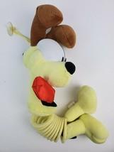 """1999 Nanco Slinky Pets Odie Garfield Dog 17"""" Plush Soft Toy Stuffed Animal - $13.09"""