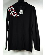 Disney Minnie Mouse Rock The Dots Sweater M Black Womans NWT - $29.70