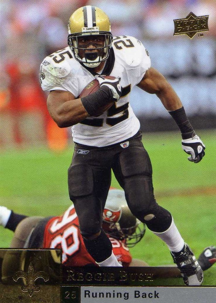 2009 Upper Deck Reggie Bush New Orleans Saints / USC