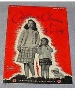 Vintage 1944 Chadwick's Red Heart Wools Children's Classics - $6.95