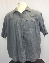 Mens Wrangler 2XL Plaid Short Sleeve Button Front Shirt - $13.86