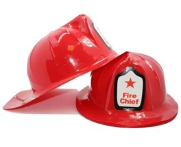 Adult  Size Fireman Firefighter Fire Chief Hats (12 Pack) Plastic  Helmets - €9,19 EUR