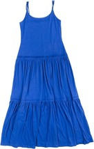 2759-2 Lauren Ralph Lauren Women's Tiered Cotton Maxidress, Small, Blue $125 - $35.16