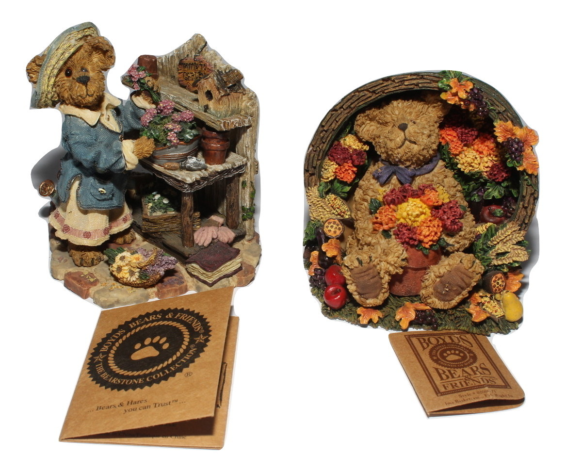 Boyds Bears and Friends Bearstone Collection Martha Bloomengrow...Tyme to Garden - $24.97