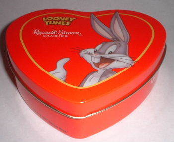 Looney Tunes Bugs Russell Stover Heart Candy Tin
