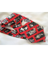 Looney Tunes Novelty Mens NeckTie Bugs Bunny Black Red - $9.95