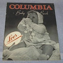 Lees Columbia Baby Book 1944 Fashions Wool Knits Crochet How To - $5.95