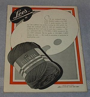 Lees Columbia Baby Book 1944 Fashions Wool Knits Crochet How To