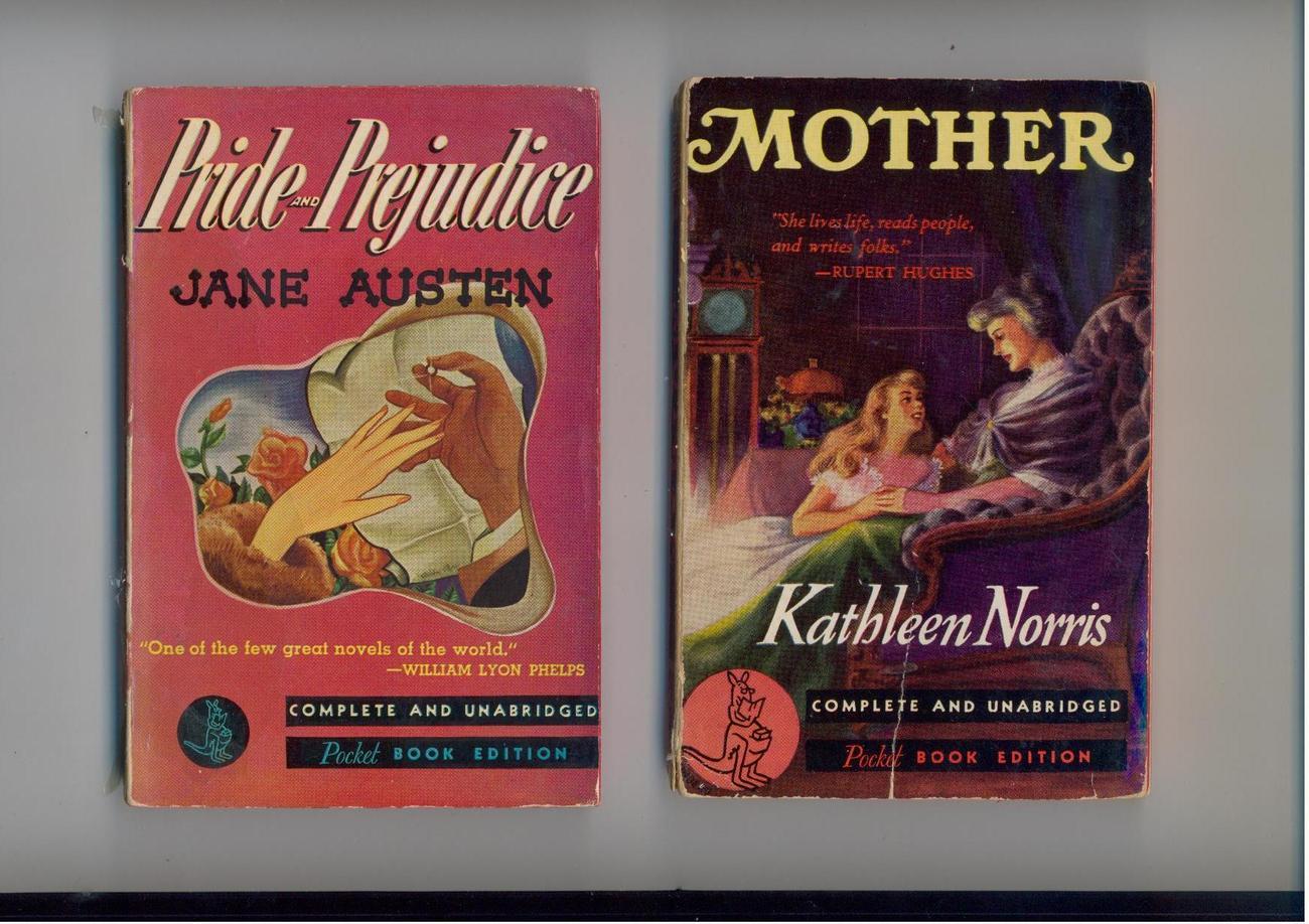 MOTHER & PRIDE AND PREJUDICE - 1940 - vintage Pocket Books