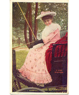 A High Stepping Lady 1908 Vintage Post Card  - $3.00