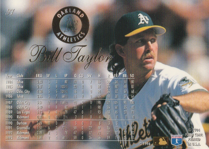 1994 Flair #97 Bill Taylor RC
