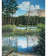Mammoth Lakes Sierra Original Realistic Landscape Oil Painting stretched... - $1,250.00