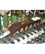 Wooden Freight Platform for Model Railroads, Scenery Layouts, Doll House... - $29.99