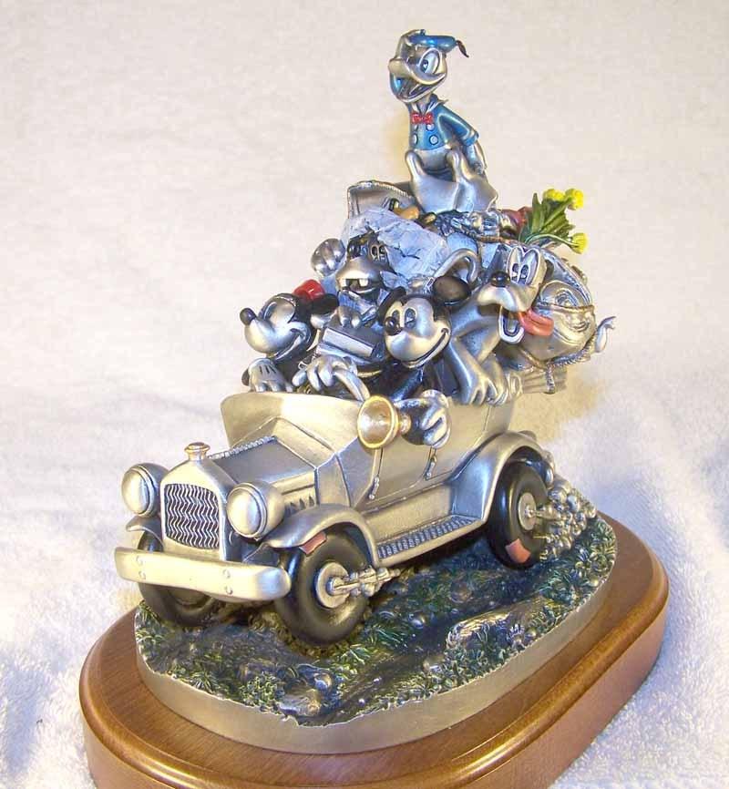 Disney California Or Bust Figurine Pewter - $766.23