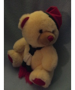 Plush Huggable Christmas Bear with Red Hat and ... - $5.50