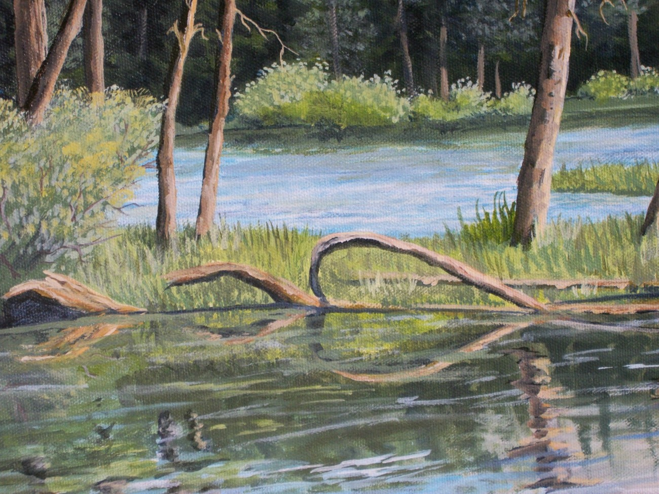 Mammoth Lakes Sierra Original Realistic Landscape Oil Painting stretched canvas