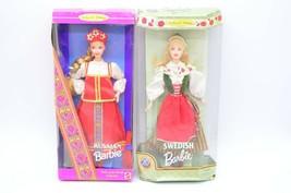 Barbie 2 Dolls of the World Lot Swedish Russian NIB 24672 16500 1996 1999 - $49.49