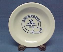 1990s Homer Laughlin China Logo Souvenir Plate w/ Cup Saucer Advertising... - $9.95