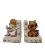 """Vintage Plastic Children Book Ends Made in Hong Kong 5.25"""" H x 4.25"""" W x... - $40.55"""