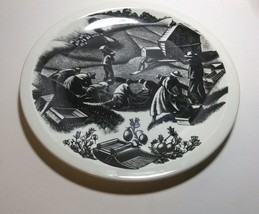 Wedgwood New England Industries Cranberrying Plate by Clare Leighton - $79.18