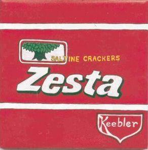 ZESTA Food Label Tile Hand Painted by TN Artist
