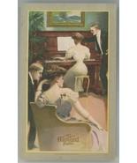 Harvard Piano Victorian trade card Ramsdell Michigan pretty ladies Churc... - $7.00