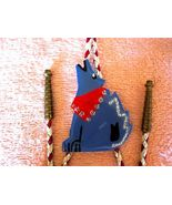 DESERT SINGING COYOTE W RED SCARF, BOLO TIE, W GT TIPS - $26.40