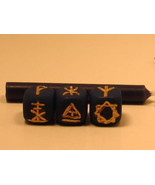 Witches Divining Dice Runes - Handmade - $17.00