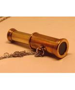 Sailor Pirate Brass Telescope Necklace - Gothic - $23.80