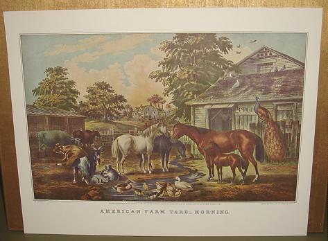 Currier american farm yard morning