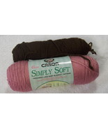 Caron Simply Soft Yarn Two Skeins Acrylic Worsted Weight Four Ply - $4.98